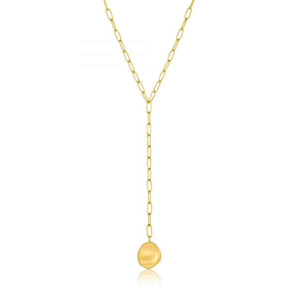 Crush Disc Y Necklace by Ania Haie