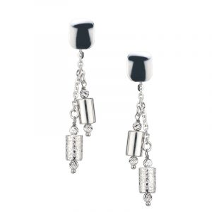 Tubular Lariat Earrings by Frederic Duclos Showcase View