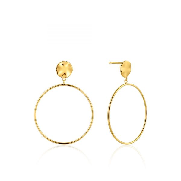 Ripple Front Hoop Earrings by Ania Haie