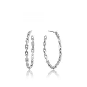Chain Hoop Earrings by Ania Haie