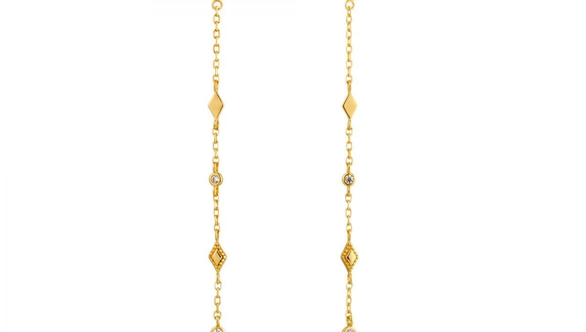 Bohemia Shimmer Drop Earrings by Ania Haie