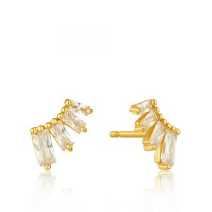 Glow Bar Stud Earrings by Ania Haie