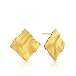 Crush Square Stud Earrings by Ania Haie