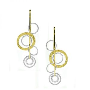 Curved OOH's Earrings by Frederic Duclos Showcase View