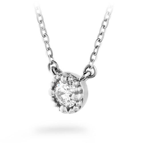 Liliana Diamond Necklace by Hearts On Fire Showcase Side View