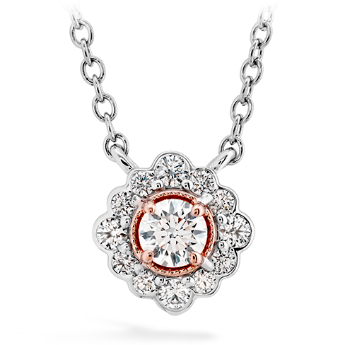 Liliana Flower Pendant by Hearts On Fire Showcase View