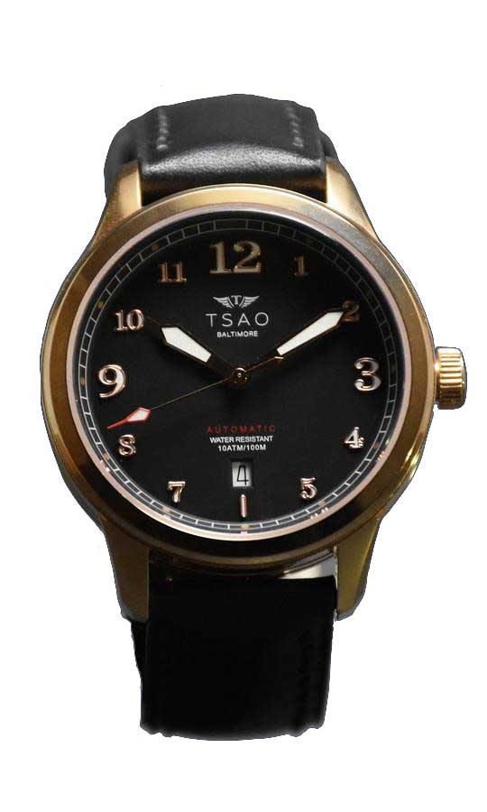 Limited Edition Rose Gold Black Watch by Tsao Baltimore Display View