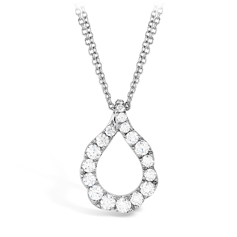 Lorelei Crescent Pendant by Hearts On Fire Showcase View