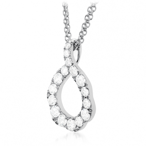 Lorelei Crescent Pendant by Hearts On Fire Showcase Side View