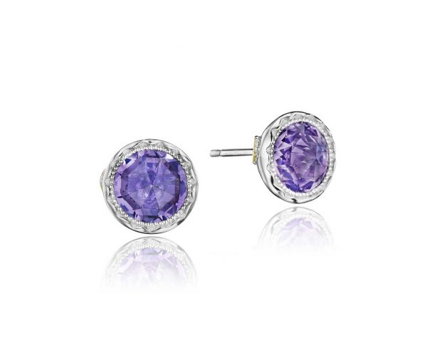 Amethyst Petite Bezel Studs by Tacori Showcase View