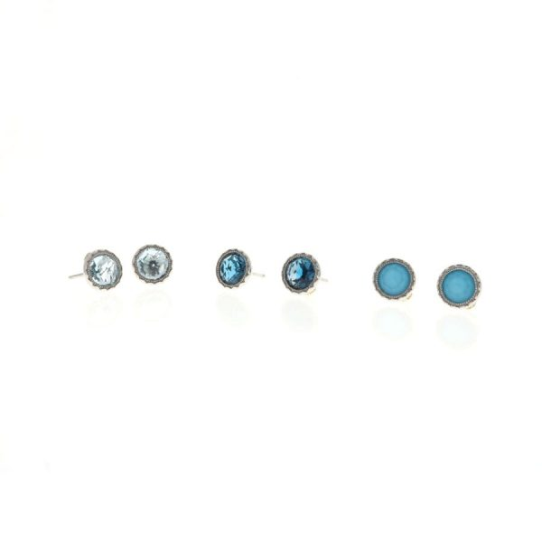 Petite Bezel Studs - Multiple Gemstones Available