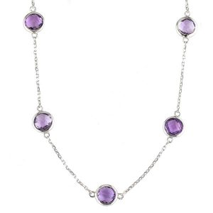 Amethyst Station Necklace Showcase View