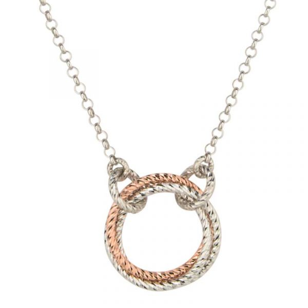 Single Love Knot Necklace Showcase View