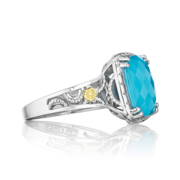 Island Rains Crescent Ceiling Ring by Tacori Side View