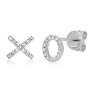 XO Stud Earrings by Shy Creation Showcase View