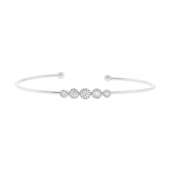 Diamond Bangle Bracelet by Shy Creation Showcase View