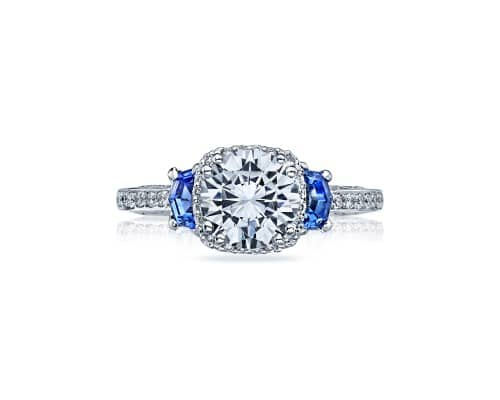 Dantela Sapphire Diamond Engagement Ring by Tacori Showcase View