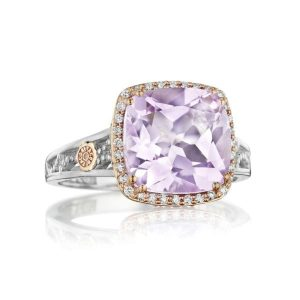 Rose Amethyst Petite Crescent Ring by Tacori