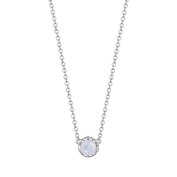 Cushion Gem Necklace with Chalcedony Showcase View
