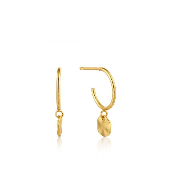 Ripple Small Hoop Earrings by Ania Haie