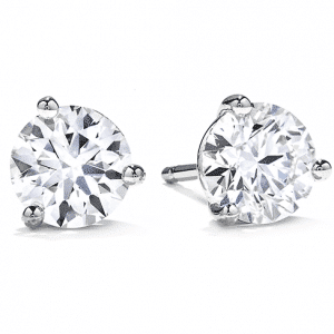 Three-Prong Stud Earrings by Hearts On Fire Showcase View
