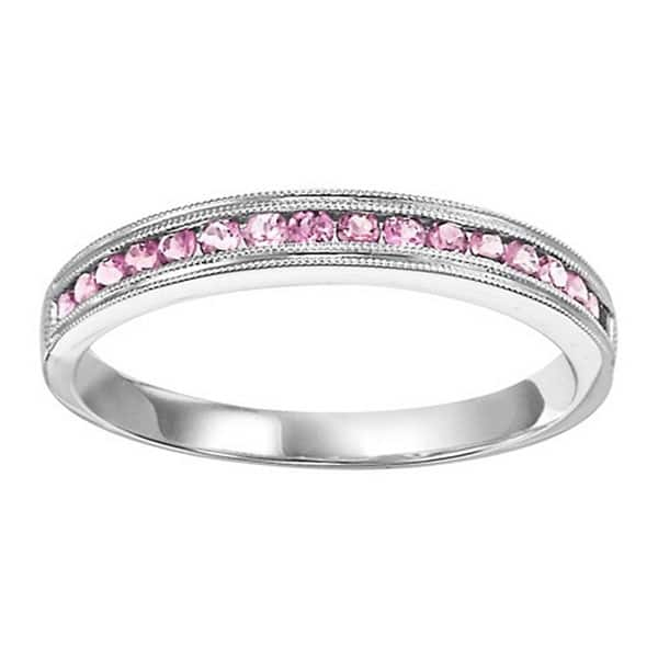 Pink Tourmaline Stacking Ring Showcase View