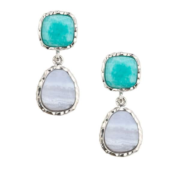 Amazonite Drop Earrings by Frederic Duclos Showcase View