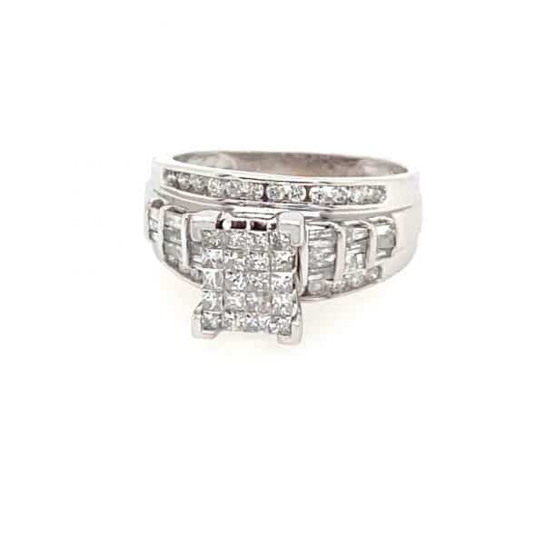 Estate Square Shaped Engagement Ring