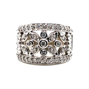 Estate Diamond Flower Band