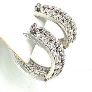 Estate Diamond Hoop Earrings