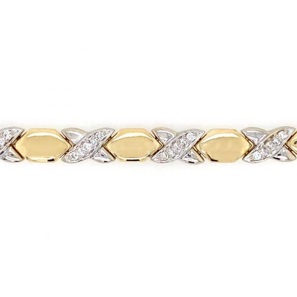 Estate Diamond X Link Bracelet