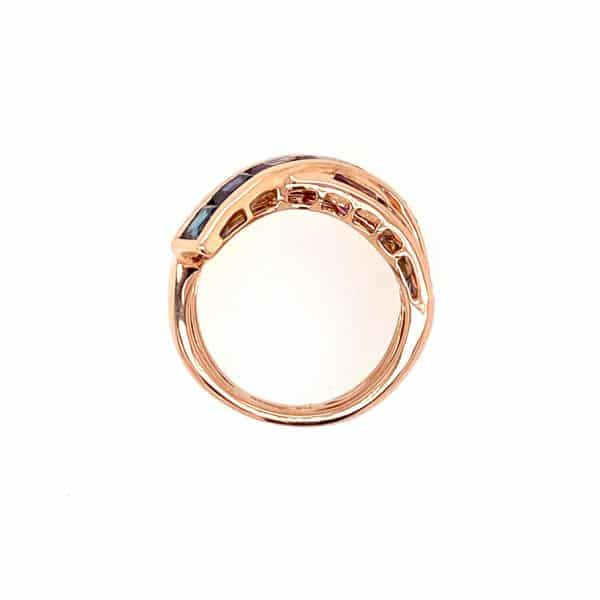Multi-stone Crossover Ring by Bellarri