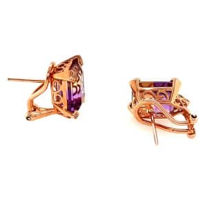 Ametrine and Diamond Earrings by Bellarri