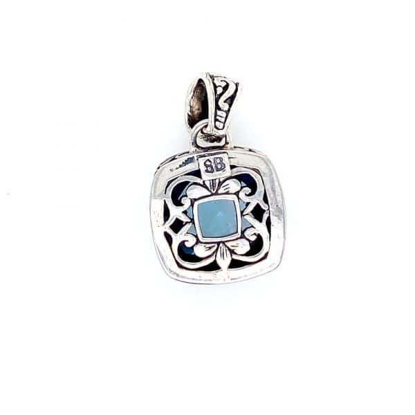 Cushion Blue Topaz Pendant