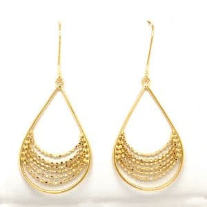 Open Pear Shape Earring with Chain