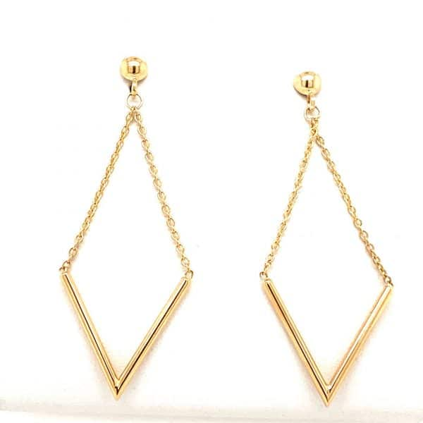 Kite Shaped Dangle Earrings