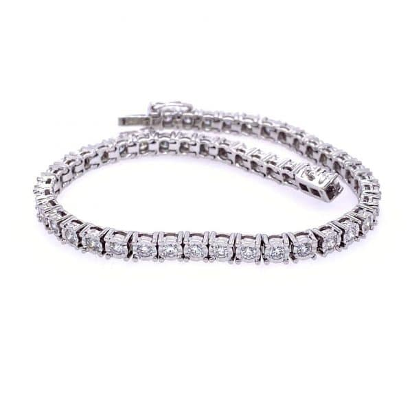 Illusion Diamond Tennis Bracelet