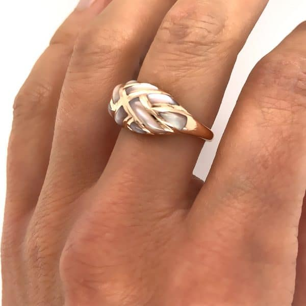 Estate Mother of Pearl Inlay Ring