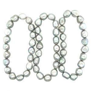 Estate Baroque Freshwater Pearl Stretch Bracelets
