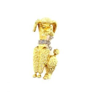 Estate Poodle Pin