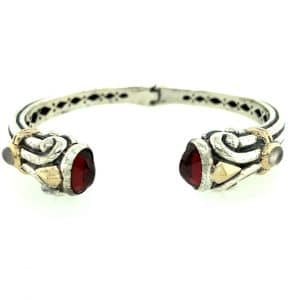 Estate Garnet and Moonstone Bracelet