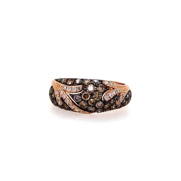 Brown and White Diamond Ring by Effy