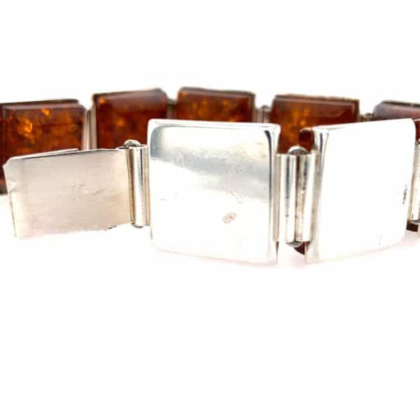 Estate Square Amber Bracelet