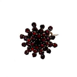 Estate Garnet Cluster Pin