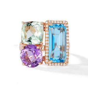 Multi-color Gemstone Ring by Effy