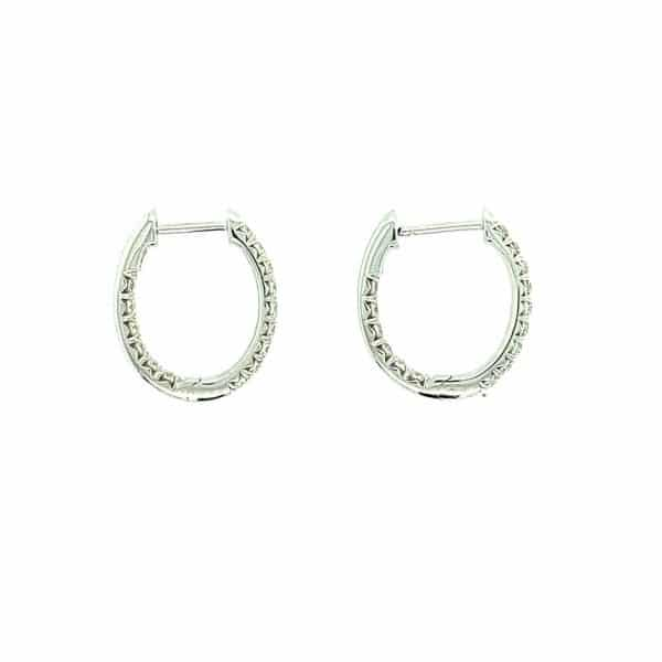 0.54CTW In and Out Diamond Hoops