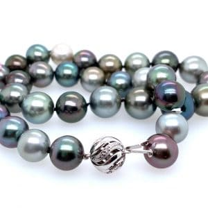 Multi-Color Tahitian Pearl Strand