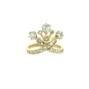 Estate Diamond Crown Ring