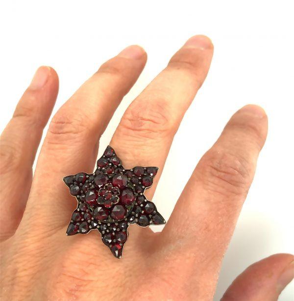 Estate Garnet Cluster Ring