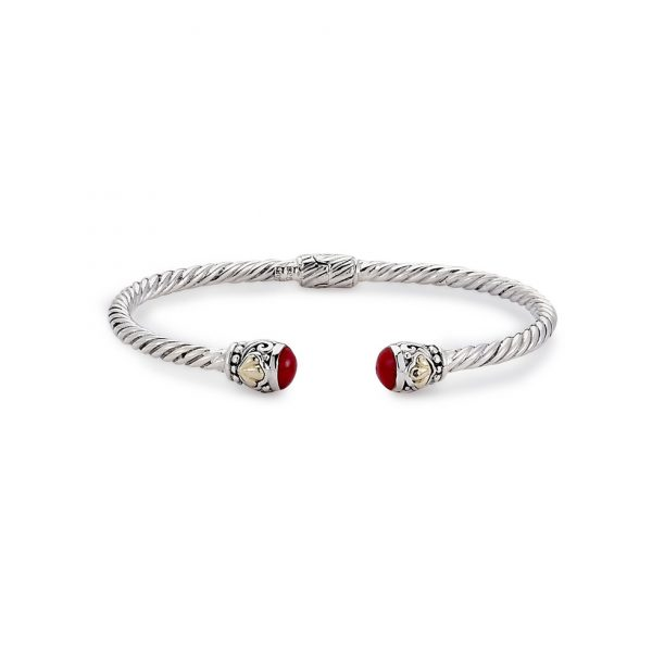 Bangle with Coral Ends